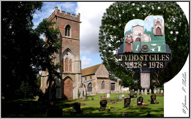 Tydd St Giles Village Sign