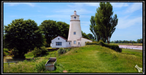 Sir Peter Scott Lighthouse, The East Bank of The River Nene, The Wash, Lincolnshire