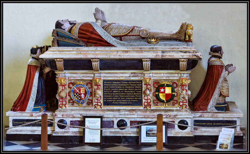 The Last Resting Place of Henry Howard, The Earl of Sussex, The Poet Earl in The Church of St Michael, Framlingham, Suffolk