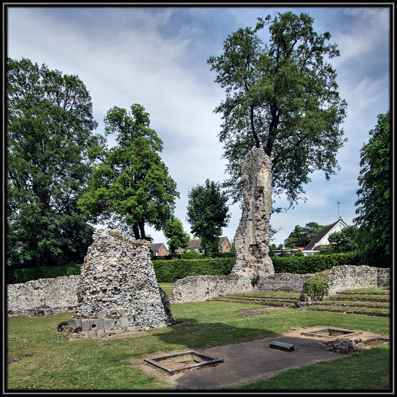 The Ruins of Thetford Priory Showing the Position of The Second Duke of Norfolk Original Resting Place