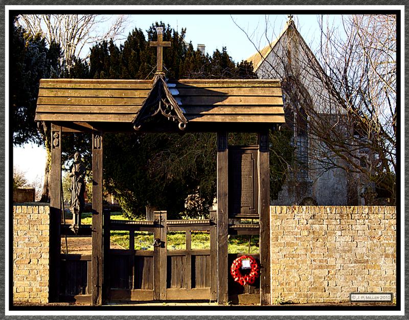 Lychgate The Church of St Peter ad Vincula Coveney Cambridgeshire