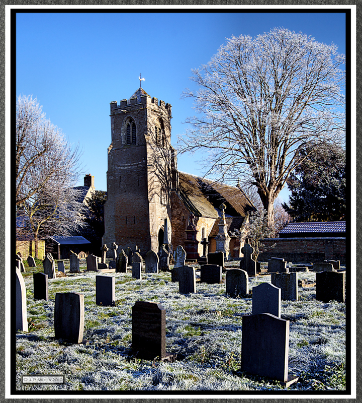 The Church of St Peter ad Vincula Coveney Cambridgeshire on a Frosty Day