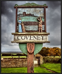 The Village Sign , Showing a image of Aethelswyth