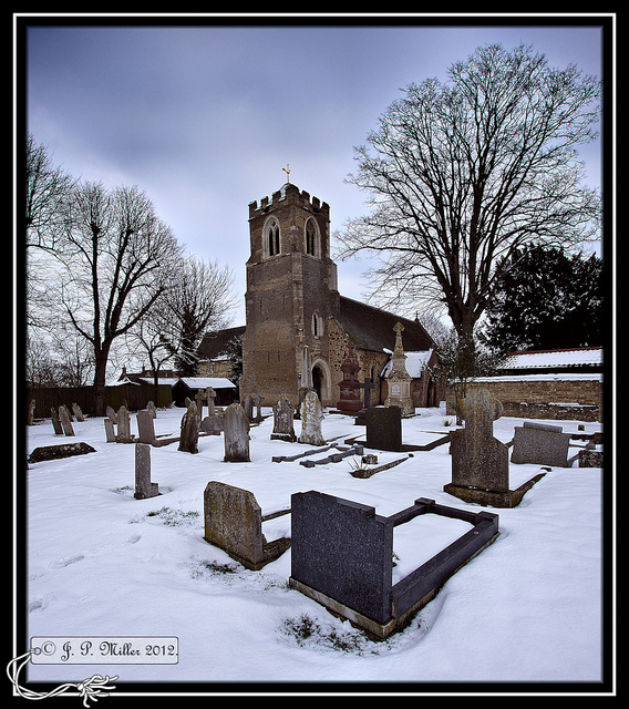 Winter The Church of St Peter ad Vincula Coveney Cambridgeshire
