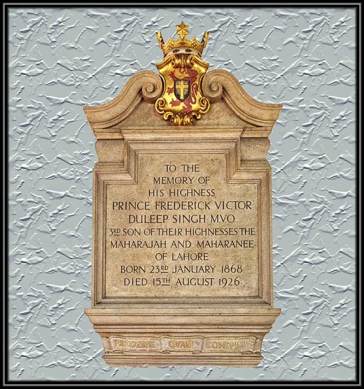 Memorial Frederick Duleep Singh, St Andrews Church, Blo Norton,, St Andrews Church, Blo Norton,