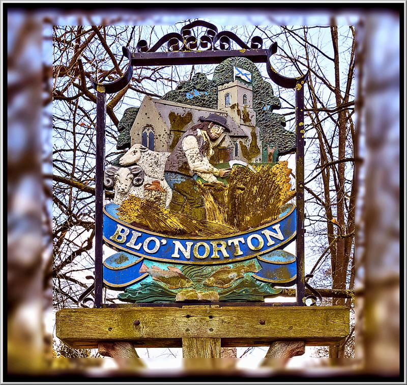 Village Sign, Blo Norton, Norfolk