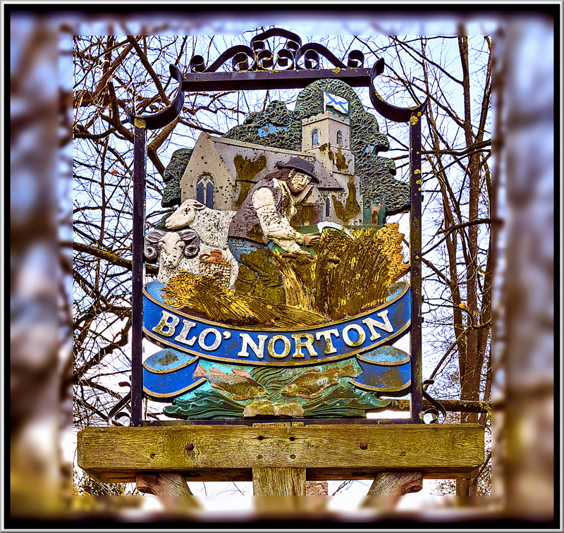 Village Sign, Blo Norton, Norfolk