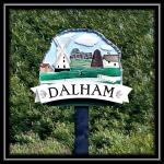 The Village Sign Dalham, Suffolk