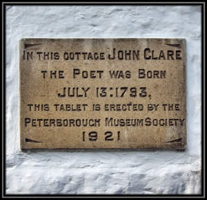Clare Cottage Tablet, Helpston,