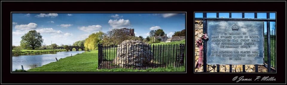 Memorial Wall Fotheringhay Castle