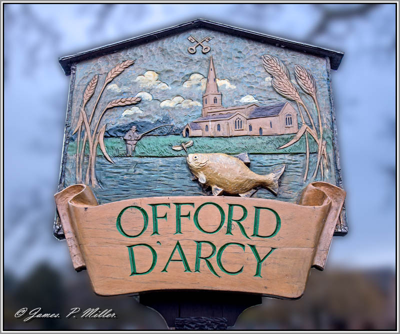 Offord D'Arcy Village Sign