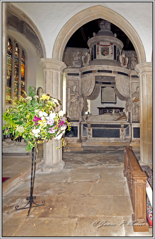 Magnificent Mildmay Monument. St Leonards Church, Apethorpe, Northamptonshire, England.