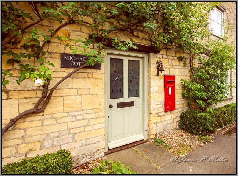 Apethorpe Village Letter Box, Apethorpe, Northamptonshire, England.