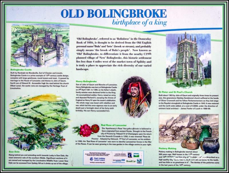 Information Board, Bolingbroke, Lincolnshire