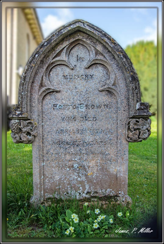 Potto Brown Last Resting Place Houghton